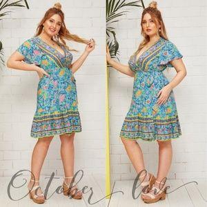 October Love Floral Dress - Plus Size (Multi)